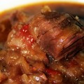 Cabbage Borscht with Beef Short Ribs