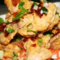 Chicken Satay with Peanut Sauce and Cucumber Relish © Spice or Die