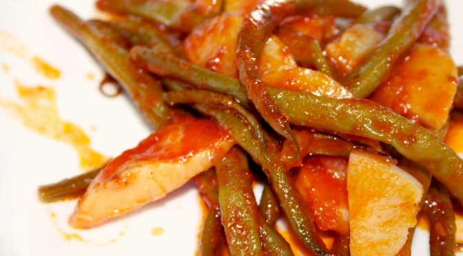 Greek-Style Oven Baked String Beans