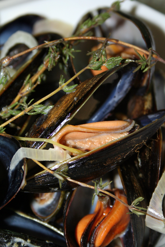Steamed Mussels with Tarragon and Shallots © Spice or Die