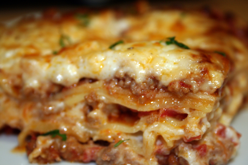 Lasagna Bolognese © Photo by Angela Gunder