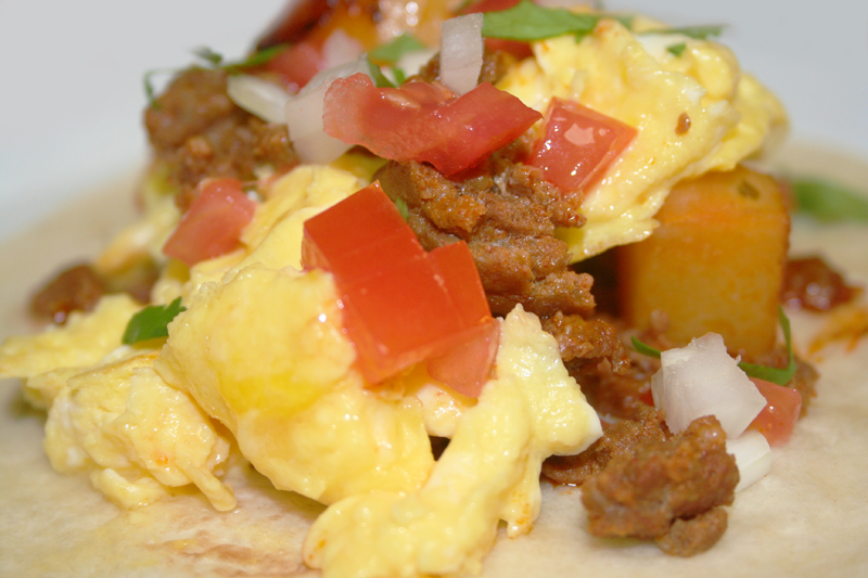 Breakfast Taco with Potatoes, Chorizo and Egg © Photo by Angela ...