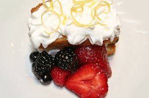 Lemon Pound Cake with Fresh Berries © Photo by Angela Gunder