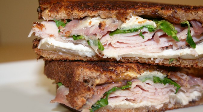 Turkey Panini with Brie and Fig Jam © Spice or Die