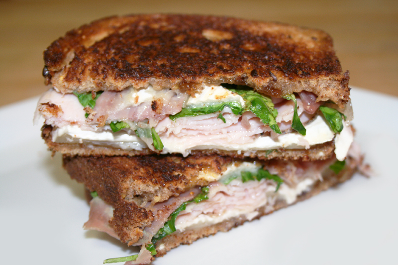 ... chicken teriyaki chicken brie fig and arugula brie fig arugula panini