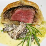 Mini Beef Wellington with Morel Bernaise and Melted Leeks © Photo by Angela Gunder