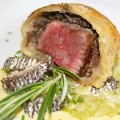 Mini Beef Wellington with Morel Bernaise and Melted Leeks