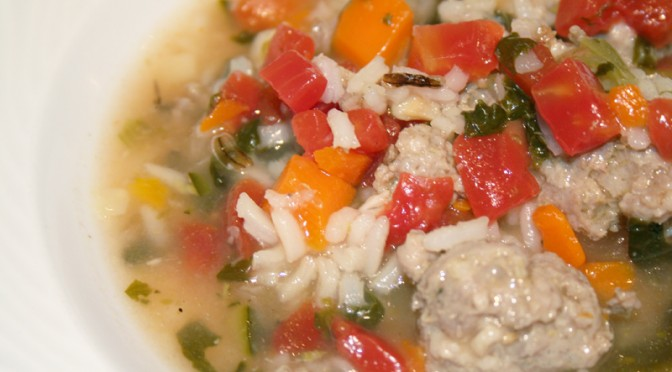 Italian Sausage and Rice Soup