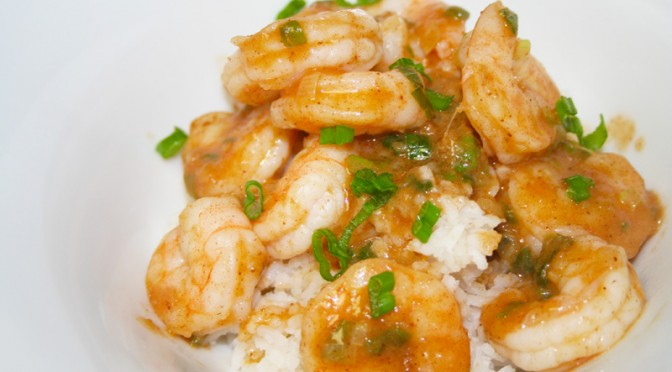 Ginger Shrimp with Coconut Rice