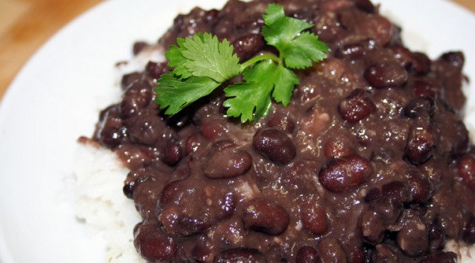 Cuban Black Beans and White Rice