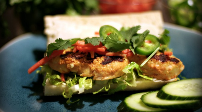 Grilled Coconut Chicken Banh Mi © Spice or Die